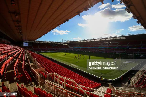 General view of the Riverside Stadium, home of Middlesbrough, before the Sky Bet Championship match between Middlesbrough and Cardiff City at...