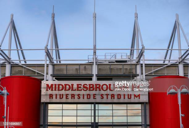 General view of the Riverside Stadium, home of Middlesbrough during the Sky Bet Championship match between Middlesbrough and Stoke City at Riverside...