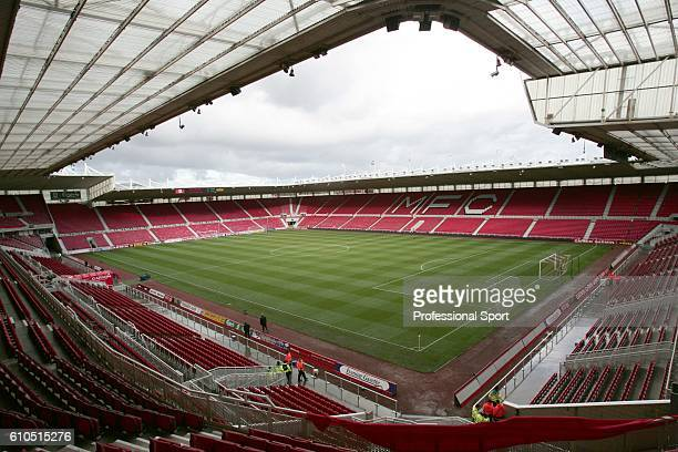 General view of the Riverside Stadium Middlesbrough prior to the FA Premiership game between Middlesbrough and West Ham United on 1 November 2008 at...
