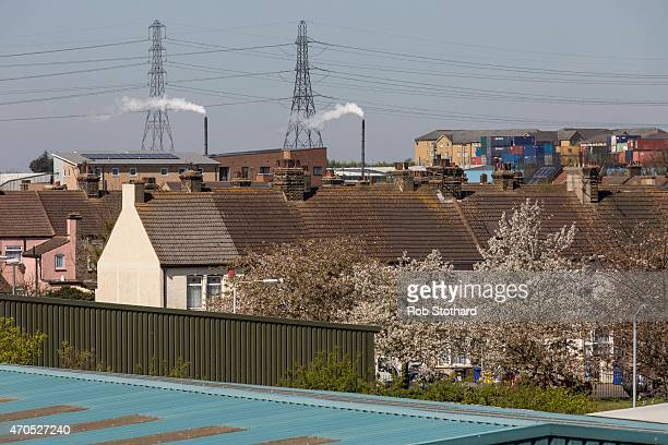 General view of the riverside town of Grays in the Thurrock constituency on April 21, 2015 in Grays, England. The south Essex constituency of...