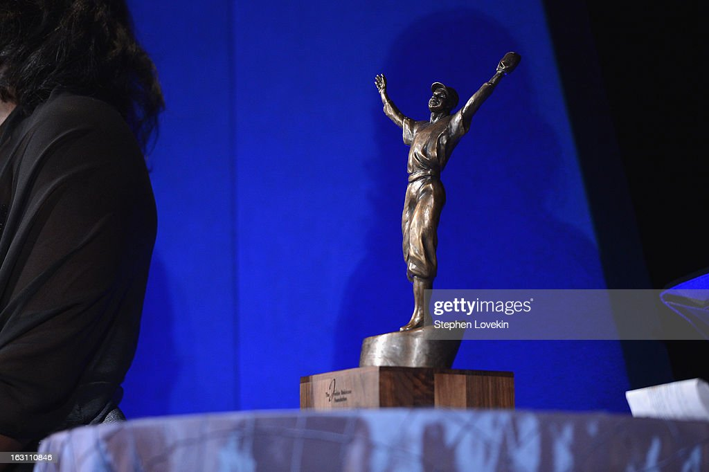 A general view of the ROBIE award at the The Jackie Robinson Foundation Annual Awards' Dinner at the Waldorf Astoria Hotel on March 4, 2013 in New York City.