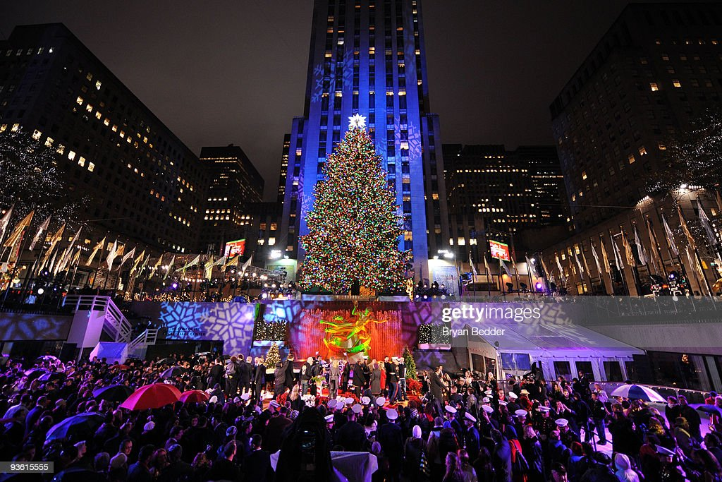 A general view of the Rockefeller Center Christmas tree lighting at Rockefeller Center on December 2 & Rockefeller Center Christmas Tree Lighting Photos and Images ... azcodes.com