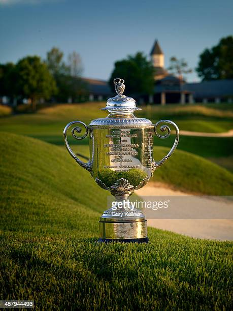 General view of the Rodman Wanamaker Trophy and the 9th hole at the Valhalla Golf Club Course on October 31 2013 in Louisville Kentucky