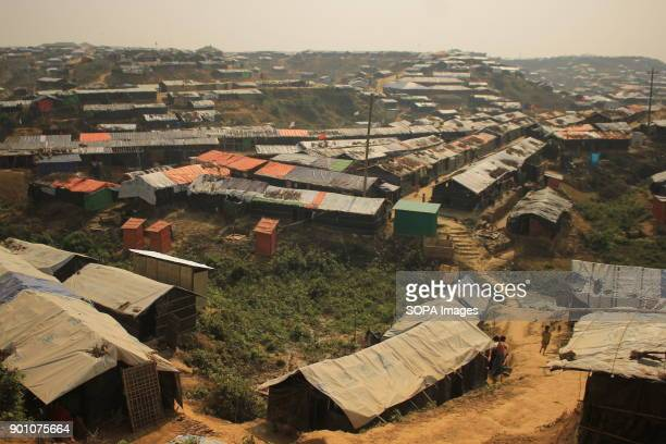 General view of the Rohingya Refugee Camp in More than 600000 Rohingya refugees have fled from Myanmar Rakhine state since August 2017 as most of...