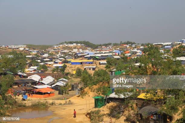 General view of the Rohingya Refugee Camp More than 600000 Rohingya refugees have fled from Myanmar Rakhine state since August 2017 as most of them...