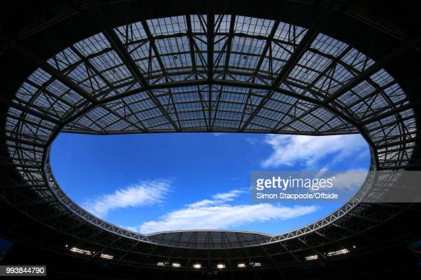 A general view of the roof during the 2018 FIFA World Cup Russia Quarter Final match between Sweden and England at the Samara Arena on July 7 2018 in...