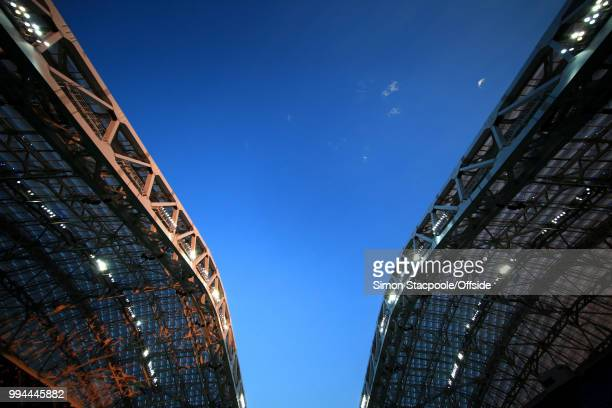A general view of the roof during the 2018 FIFA World Cup Russia Round of 16 match between Uruguay and Portugal at the Fisht Stadium on June 30 2018...