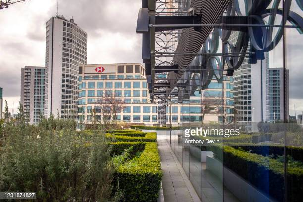 General view of the roof garden at the Library of Birmingham in Birmingham city centre on March 20, 2020 in Birmingham, England.