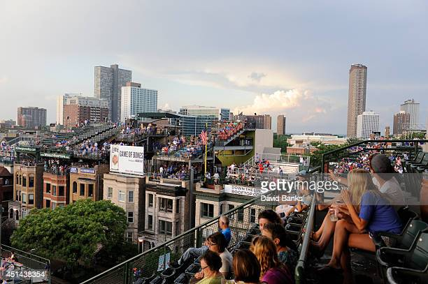 A general view of the rooftops in a game between the Chicago Cubs and the Washington Nationals during the second game of a doubleheader on June 28...