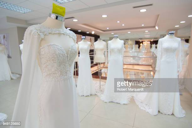 A general view of the Rosa Clara Bridal Showroom opening on April 20 2018 in Barcelona Spain The Rosa Clara Bridal 6000m2 Showroom exhibits 1500...