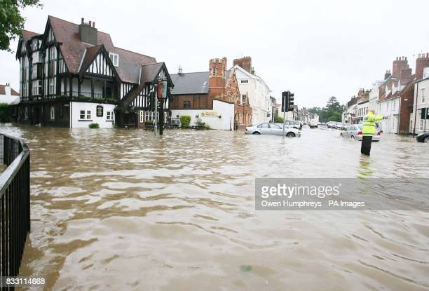 General view of the Rose and Crown pub in Beverley North East Yorkshire after heavy rainfall caused flooding