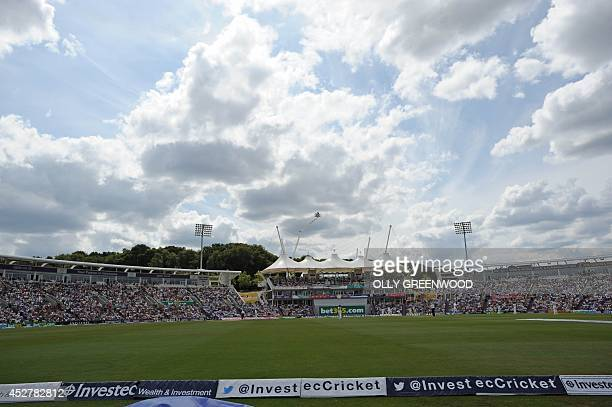 General view of the Rose Bowl on the first day of the third cricket Test match between England and India at The Rose Bowl cricket ground in Hampshire...