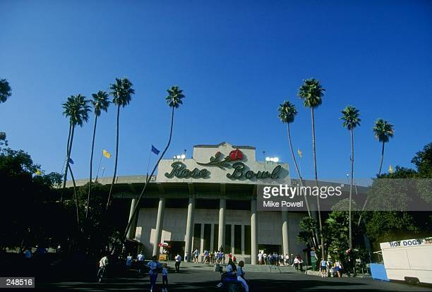 General view of the Rose Bowl stadium in Pasadena California