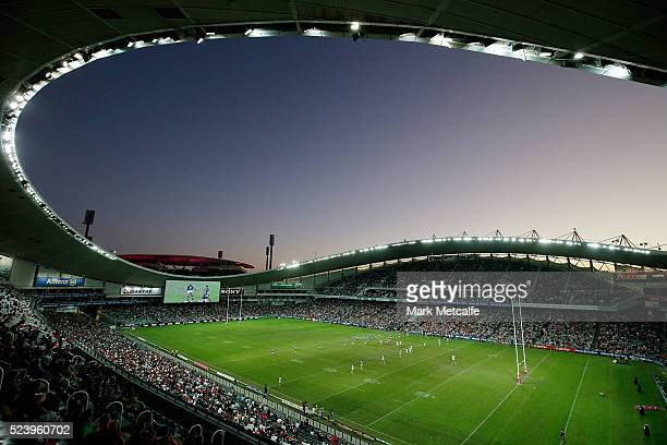 A general view of the round eight NRL match between the St George Illawarra Dragons and the Sydney Roosters at Allianz Stadium on April 25 2016 in...