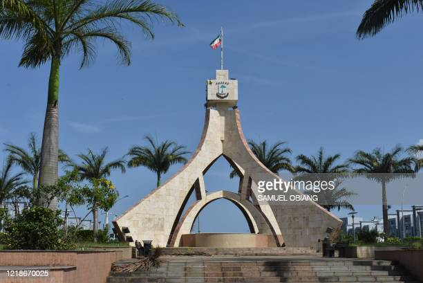 General view of the Roundabout Malabo 2 in Malabo, Equatorial Guinea, on June 5, 2020. - This small oil-producing country, which for more than forty...