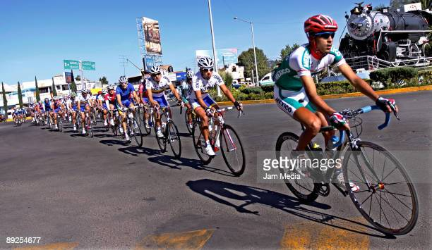 General view of the route competition of the Panamerican Cyclism Championship 2009 on July 24 2009 in Huamantla Mexico