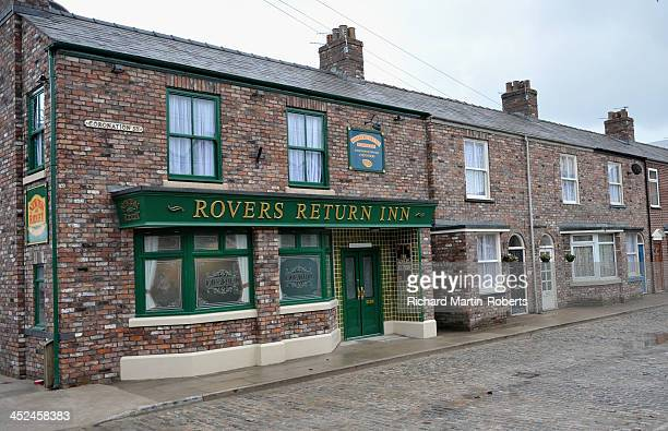 General View of the Rovers Return Inn at the new Coronation Street set on November 29 2013 in Manchester England