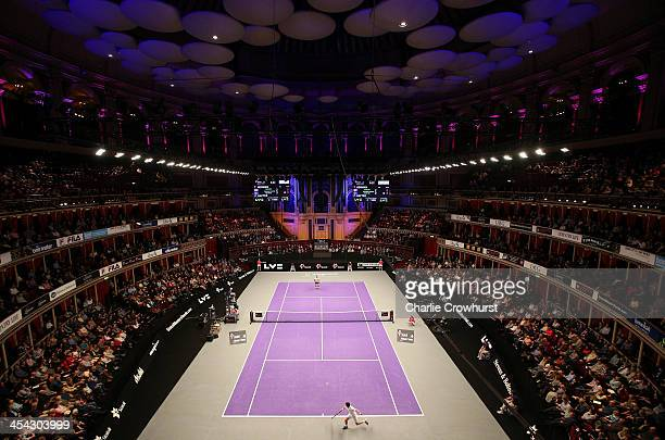 A general view of the Royal Albert Hall during the ATP Champions Tour Final match between Tim Henman of Great Britain and Pat Rafter of Australia on...