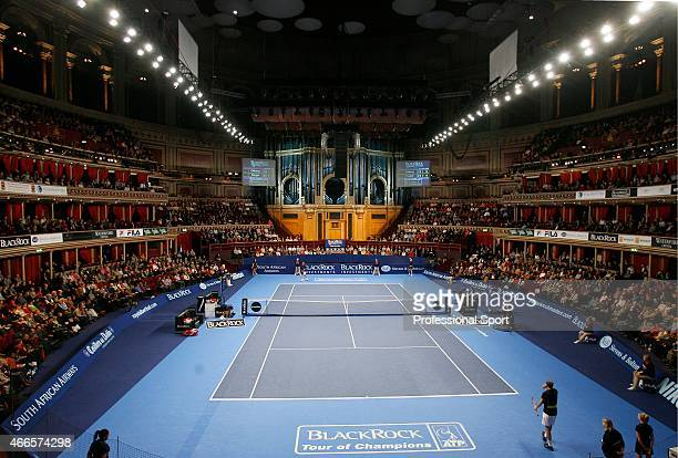 General view of the Royal Albert Hall during the BlackRock Masters Tennis on December 7, 2008 in London, England.