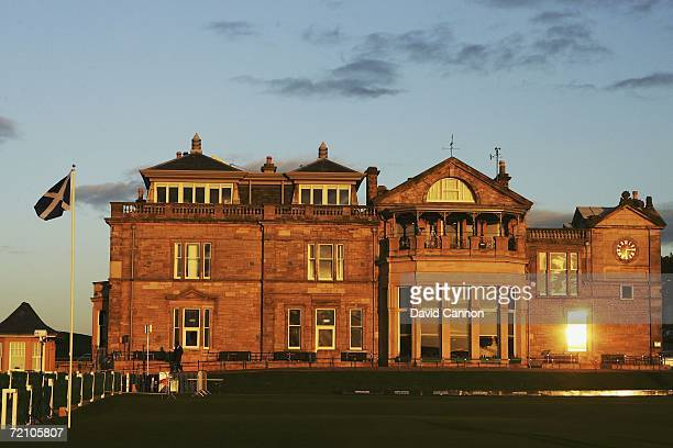 General view of the Royal and Ancient Golf Club of St Andrews clubhouse after the Second Round of The Alfred Dunhill Links Championship at The Old...