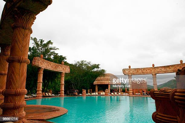 A general view of the Royal Baths in close proximity to the The Palace of the Lost City Hotel within the Sun City Resort which is rumoured to be the...