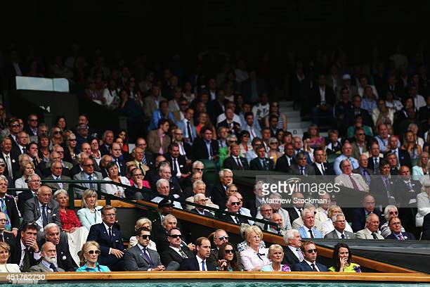 General view of the royal box during the Gentlemen's Singles Final match between Roger Federer of Switzerland and Novak Djokovic of Serbia on day...