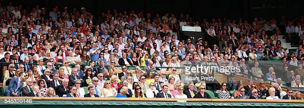 A general view of The Royal Box during the Ladies Singles Semi Final match between Venus Williams of The United States and Angelique Kerber on day...