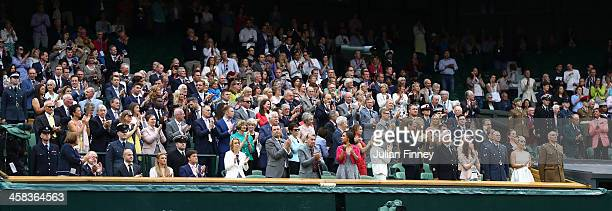 A general view of the Royal box on day six of the Wimbledon Lawn Tennis Championships at the All England Lawn Tennis and Croquet Club on July 2 2016...