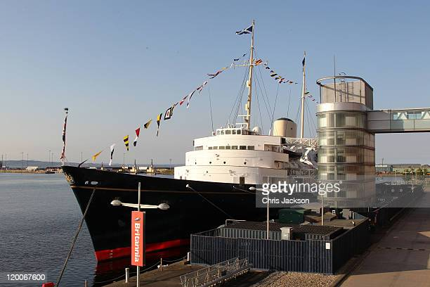 General view of the Royal Britannia during the pre wedding party hosted by Zara Phillips and Mike Tindall on the Britannia on July 29, 2011 in...
