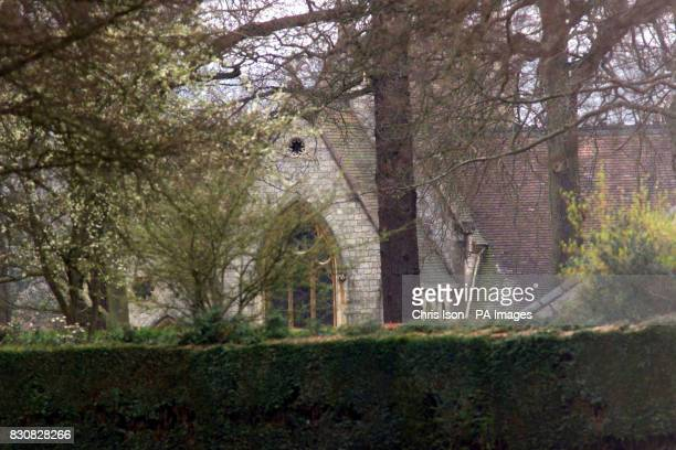 General view of the Royal Chapel of All Saints in Windsor Great Park where a church service was held following the death of Queen Elizabeth The Queen...
