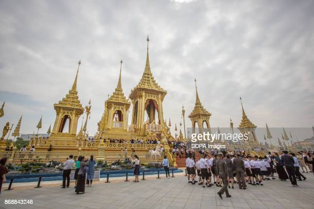 A general view of the Royal Crematorium during the opening ceremony visit one day before the general opening for public The Royal Crematorium site...