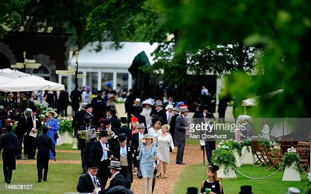A general view of the Royal Enclosure during Ladies Day at Royal Ascot at Ascot racecourse on June 21 2012 in Ascot England