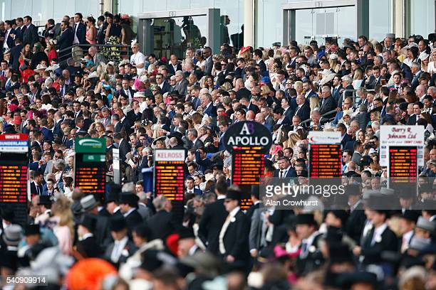 General view of the Royal Enclosure from trackside on day 4 of Royal Ascot at Ascot Racecourse on June 17 2016 in Ascot England