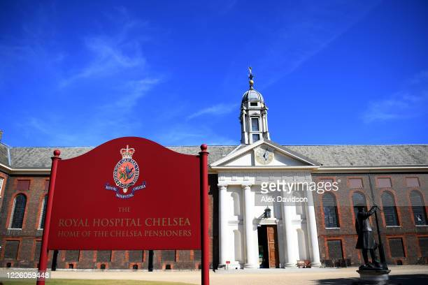 General view of the Royal Hospital Chelsea, which was due to hold the RHS Chelsea Flower Show this week on May 20, 2020 in London, England. The...