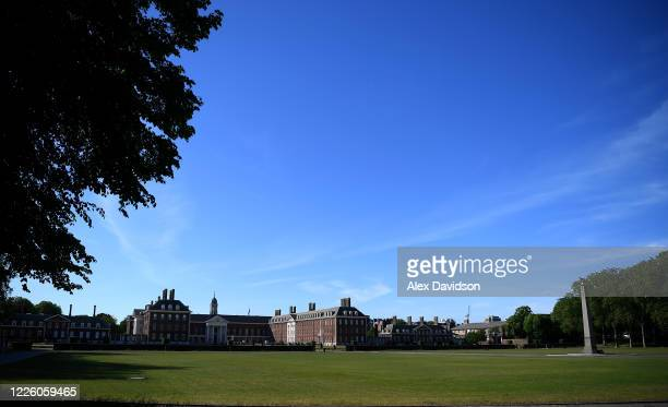 General view of the Royal Hospital Chelsea, which was due to hold the RHS Chelsea Flower Show this wee on May 20, 2020 in London, England. The...