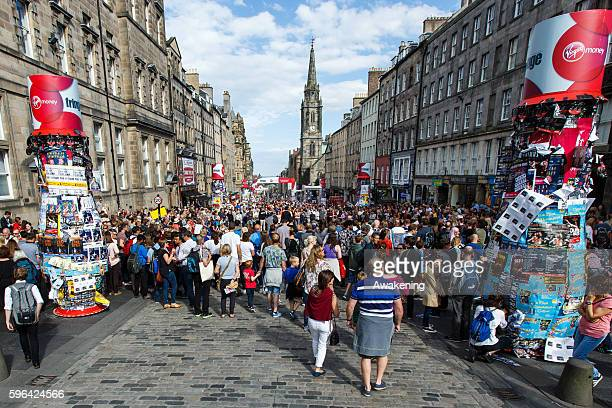 General view of the Royal Mile during the Edinburgh Festival Fringe on August 27 2016 in Edinburgh Scotland The largest performing arts festival in...