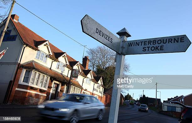 A general view of the Royal Oak public house is seen in the village of Shrewton on December 17 2012 near Amesbury England Detectives investigating...