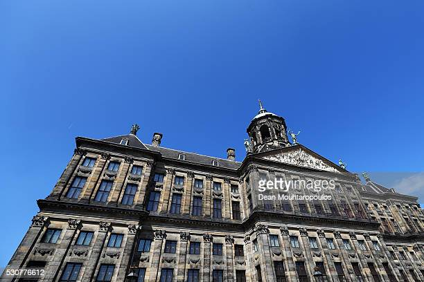A general view of The Royal Palace on May 11 2016 in Amsterdam Netherlands The Royal Palace or Koninklijk Paleis Amsterdam or Paleis op de Dam in...