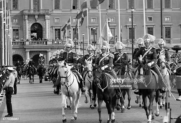 A general view of the Royal Palace prior the wedding cortege of Prince Carl Philip of Sweden and Princess Sofia of Sweden on June 13 2015 in...
