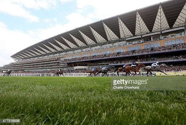 General view of the royal procession on day 1 during Royal Ascot 2015 at Ascot racecourse on June 16, 2015 in Ascot, England.