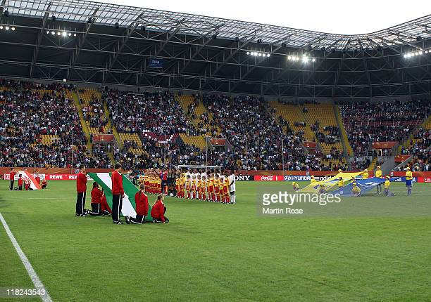 A general view of the RudolfHarbigStadion during the FIFA Women's World Cup 2011 Group A match between Canada and Nigeria at RudolfHarbigStadion on...