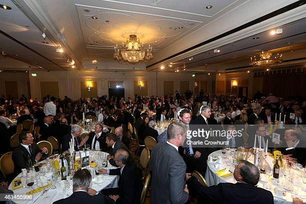 A general view of the Rugby Union Writers Club Annual Dinner Awards Evening at The Marriott Hotel Grosvenor Square on January 12 2015 in London...
