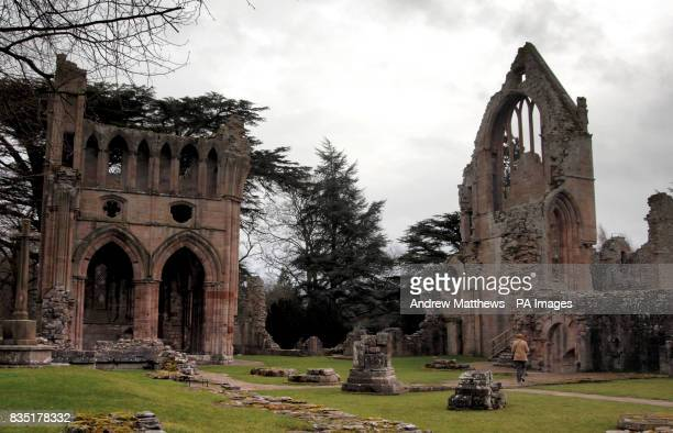 General view of the ruins of Dryburgh Abbey
