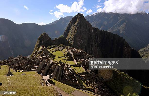 General view of the ruins of the Machu Picchu citadel 130 km northwest of Cusco Peru on July 6 2011 The Inca compound is being prepared for the...