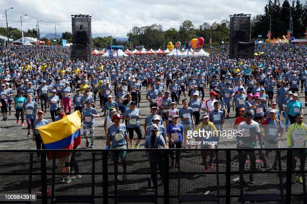 General view of the runners and fans during the half marathon of Bogota 2018, mmB. With its 21Km in this edition the winner was Betesfa Getahun of...