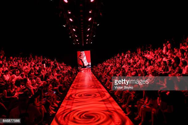 A general view of the runway at the DB Berdan show during MercedesBenz Istanbul Fashion Week September 2017 at Zorlu Center on September 14 2017 in...