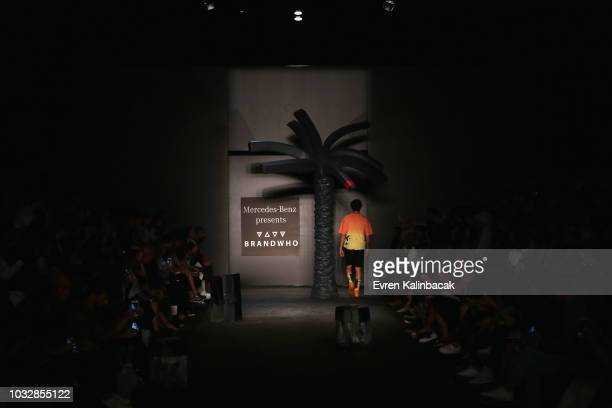 A general view of the runway at the MercedesBenz presents Brand Who show during the MercedesBenz Istanbul Fashion Week at Zorlu Performance Hall on...