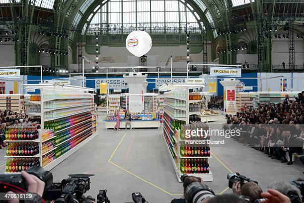 General view of the runway during the Chanel show as part of the Paris Fashion Week Womenswear Fall/Winter 20142015 on March 4 2014 in Paris France
