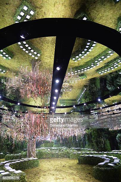 A general view of the runway during the Christian Dior Haute Couture Spring Summer 2017 show as part of Paris Fashion Week on January 23 2017 in...