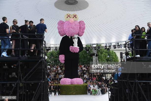 A general view of the runway during the Dior Homme Menswear Spring/Summer 2019 show as part of Paris Fashion Week on June 23 2018 in Paris France